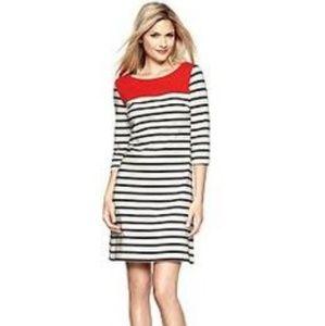 GAP Dresses - Gap Striped Shift Dress Colorblock Red Dress Sz. L